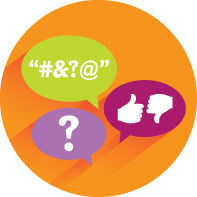Difficult conversations icon